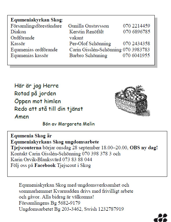 Höstprogram ekumenia 2