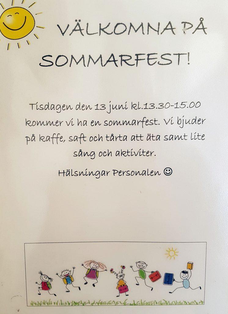 sommarfest förskola